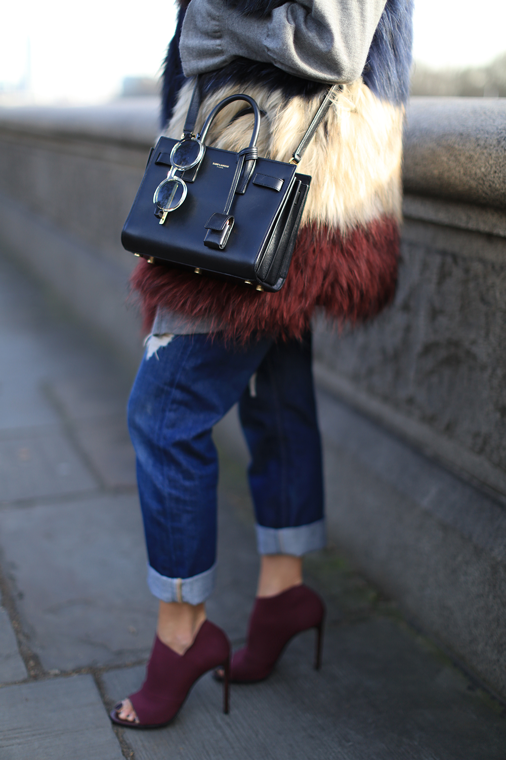 Degrained Boyfriend Jeans