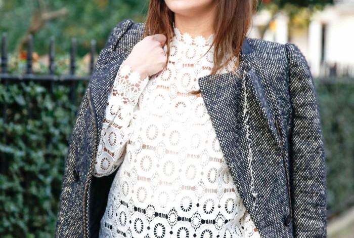 luisaviaroma.com, self portrait, jbrand, #inmybrand, velvet heels, tweed jacket, london streetstyle, london blogger, juliet angus, #thelondonstylist
