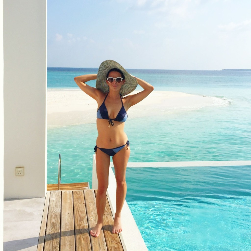amilla fushi, maldives, seafolly denim suit
