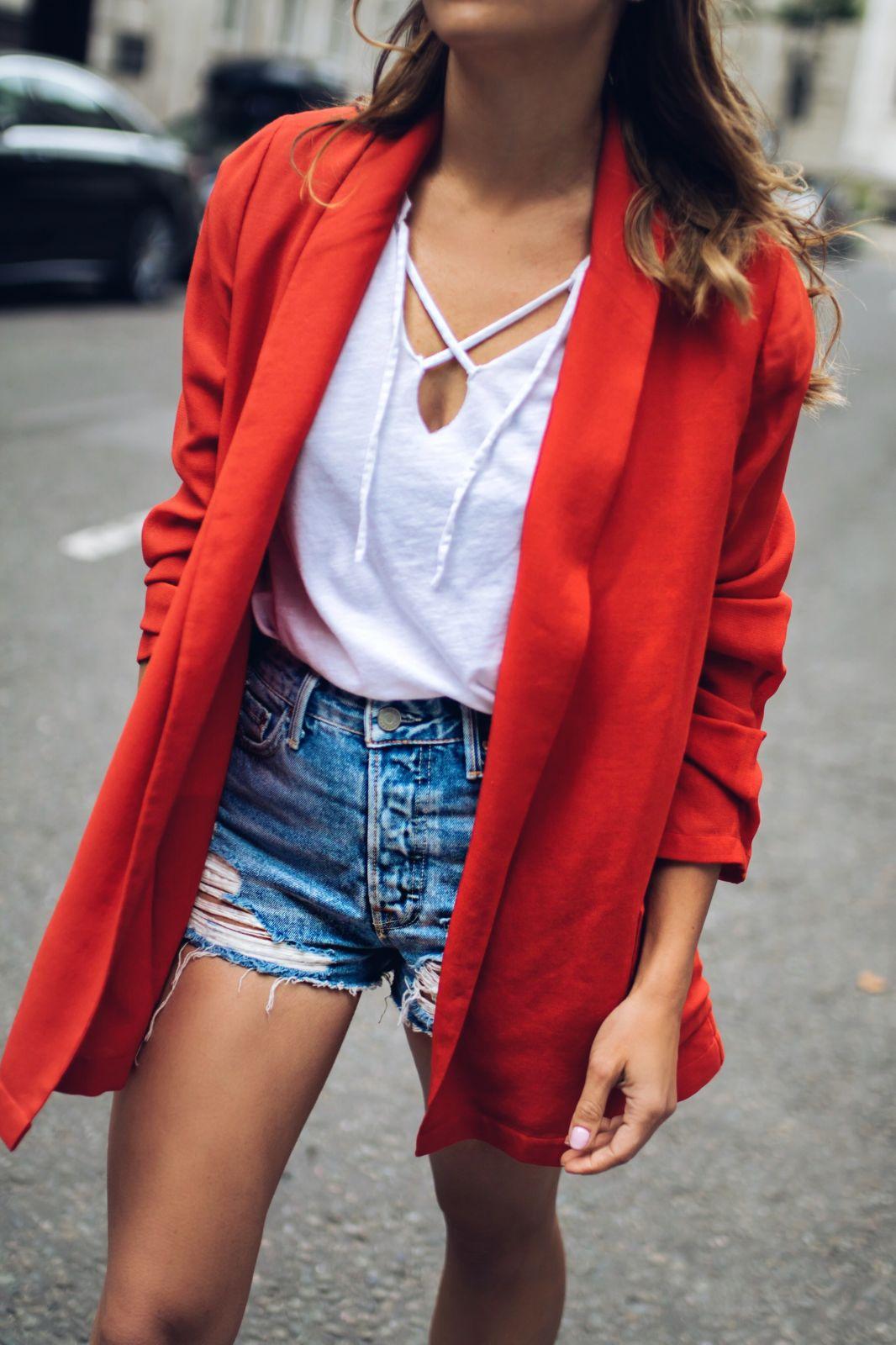 Juliet Angus Orange Blazer