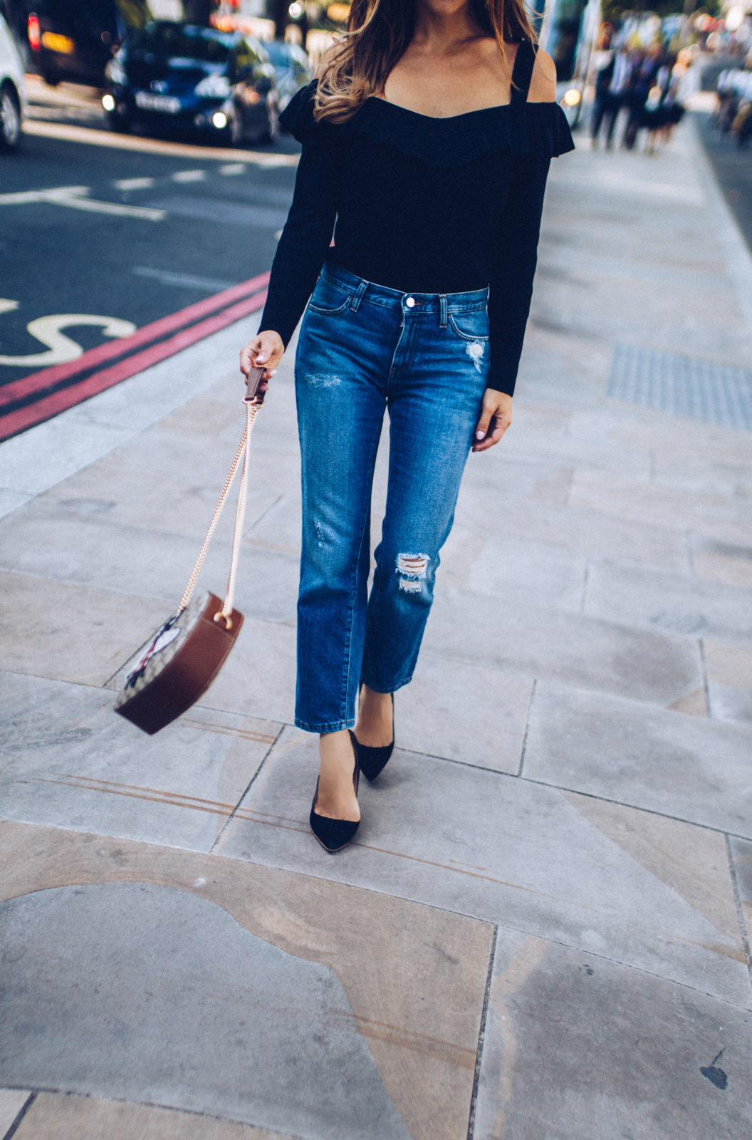 iris & ink denim ripped jeans